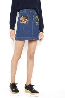 STELLA MCCARTNEY embroidered studded mini skirt
