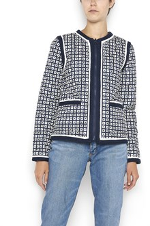 TORY BURCH 'Petra' reversable jacket with multicoloured print  and zip closure