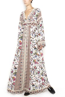 TORY BURCH long 'Rosmary' dress with 'Gabriella floral' print  and lace details