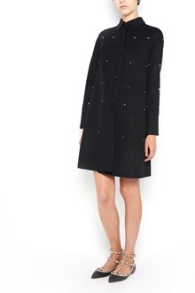 VALENTINO 'Scallop' virgin wool long  coat  with buttons closure