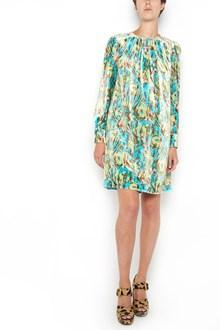 PRADA long sleeves velvet dress with 'Mimosa' print