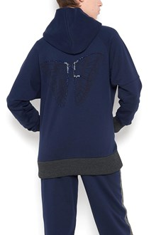 JO NO FUI 'butterfly' embroidered hoodie with swarovski