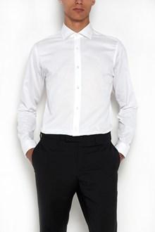 Z ZEGNA Mini polkadot printed stretch cotton shirt