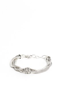 GIACOMOBURRONI Silver set of three bracelets in one