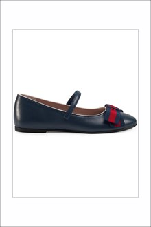 GUCCI Flat shoes with strap and bow
