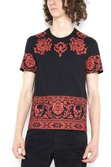 "ALEXANDER MCQUEEN t-shirt ""engin skull"" stampata in cotone"