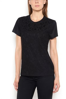 CARVEN Cotton and lace t-shirt