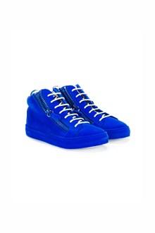 GIUSEPPE JUNIOR velvet sneaker with two zippers