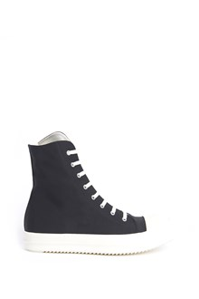 DRKSHDW cotton laced up high sneaker with zip