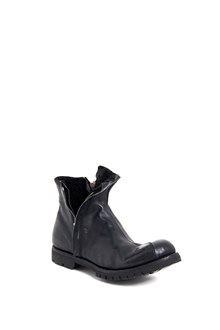 10SEI0OTTO 'Curved thank shearling' calf leather boots