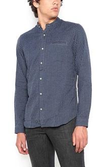 DNL corean neck microchecked shirt