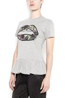 MARKUS LUPFER 'Artic flower lip' printed t-shirt