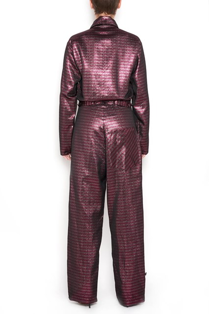 ULTRACHIC Striped glittered lurex  jumpsuit