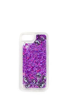 CHIARA FERRAGNI transparent case iphone 7 with glitter end eyes liquid