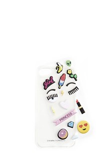CHIARA FERRAGNI transparent case iphone 7 with glitter and eyes liquid