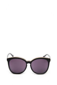 STELLA MCCARTNEY black sunglasses with chain