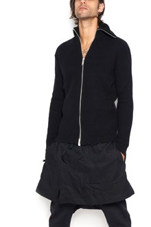 UNRAVEL cashmere zipped over cardigan