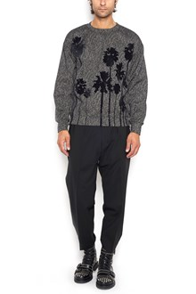 CHRISTIAN PELLIZZARI printed sweatshirt with zip on each side