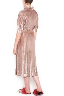 PRADA velvet lurex dress with short sleeves