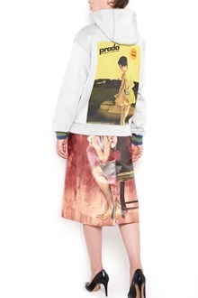 """PRADA """"poster girl"""" printed hoodie"""