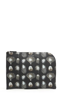 ALEXANDER MCQUEEN Pochette piume all over
