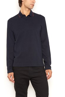 Z ZEGNA Cotton polo with contrast line in the collar