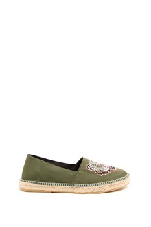 KENZO espadrillas canvas with embroidery tiger
