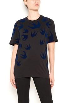 McQ ALEXANDER McQUEEN cotton t-shirt with blue macro swallows