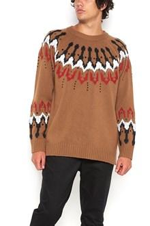 LANEUS maglia jaquard con borchie