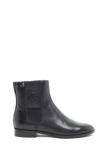 TORY BURCH mid calf leather bootie
