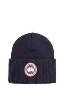 CANADA GOOSE Beanie in wool with logo