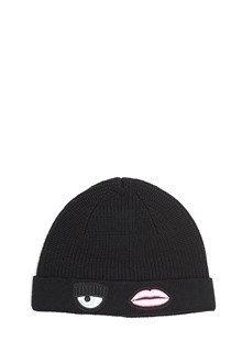 CHIARA FERRAGNI Beanie in wool with patch