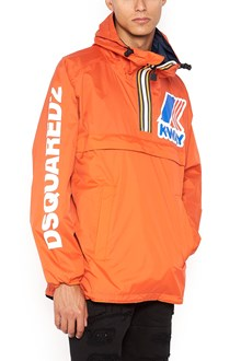DSQUARED2 short windcheater with half zip and pockets