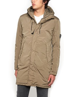 C.P. COMPANY padded long jacket with hood