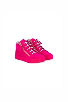 GIUSEPPE JUNIOR Velvet high top sneakers