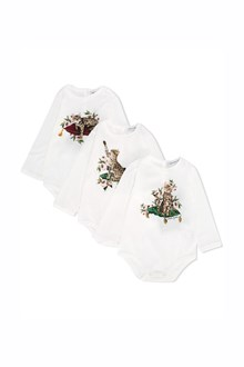 DOLCE & GABBANA cotton 'zambia' baby set pack 3 rompers suit