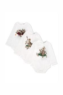 DOLCE & GABBANA baby set 'zambua' in cotone con tre tutine
