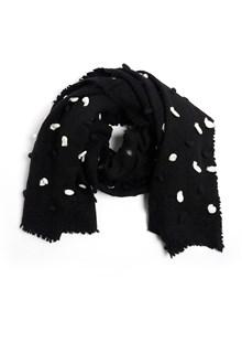 FALIERO SARTI wool 'sbuffetto' pois scarf