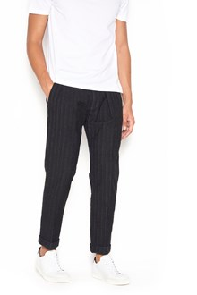 CARE LABEL cotton pinstrips pants with pences