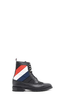 THOM BROWNE ankle boots stripe