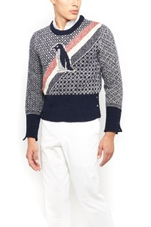 THOM BROWNE sweater with embroidered penguin