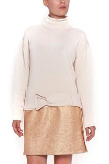 CARVEN wool turtleneck sweater with waist belt