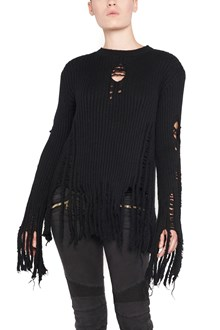 BALMAIN sweater with fringes