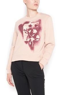 CARVEN cotton 'flower spray' crew neck sweatshirt