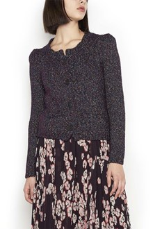 ISABEL MARANT Cardigan with 'Abon' Buttons and padded shoulder