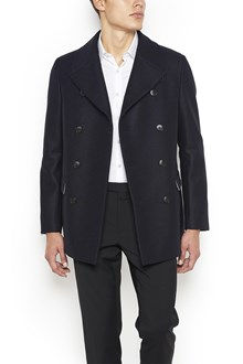 Z ZEGNA Double Breasted Wool Coat