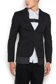 COMME DES GARÇONS HOMME PLUS Jacket with attachable pinstripe side