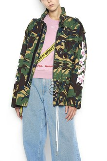 OFF-WHITE Camouflage parka with flower prints