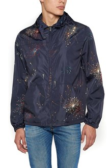 VALENTINO Rain Coat with hood and 'Fireworks' Print