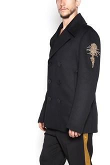 ALEXANDER MCQUEEN Cappotto patch oro
